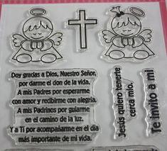 Sellos en Español Bautismo  Uchi's Design Spanish Stamp Set  Baptism Clear Mount 13 Piezas Ángeles Angels Cruz Cross Angel de la Guarda