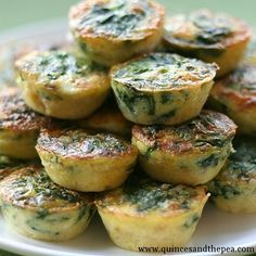 spinach crustless quiche, so i can eat something besides greek yogurt for breakfast