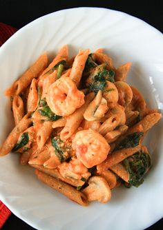 Healthy and Delicious Penne Rosa with Shrimp! | back to her roots