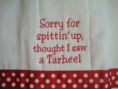 NC State Burp Cloth. $12.00, via Etsy.