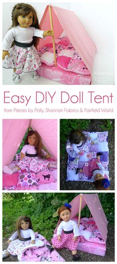 Easy Embrace® double gauze DIY Doll Tent and Cuddle puff quilt for 18 inch dolls @PiecesByPolly @fairfieldworld – Sewciety – My Cuddle Corner