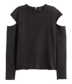 Sudadera cut out | Negro | Ladies | H&M CL