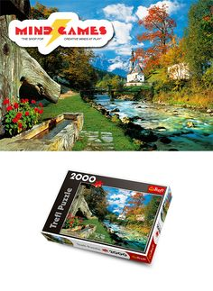 """Experience pure bliss in the Bavarian Alps of Germany. With the sound of water running downstream nearby, coupled with the beautiful greenery around you and the Bavarian Alps overlooking you in the background, you'll completely forget you're only at home doing a puzzle with the Bavarian Alps 2000-Piece Jigsaw!  Finished puzzle size: 38"""" x 27""""  The Bavarian Alps 2000-Piece Jigsaw contains 2000 puzzle pieces and is recommended for ages 12 and up."""