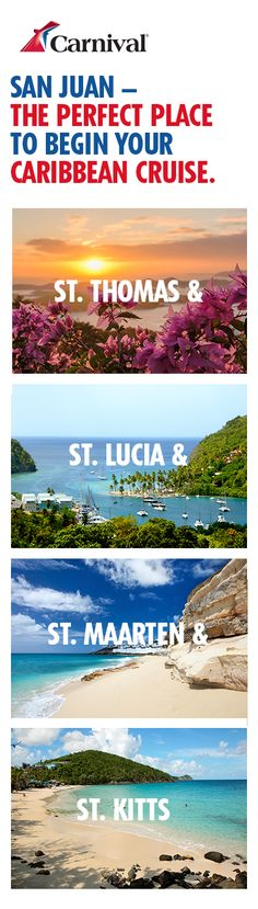 See why these islands are worthy of saints. Visit all when you sail from San Juan. Vacation Places, Cruise Vacation, Vacation Destinations, Vacation Trips, Dream Vacations, Vacation Spots, Places To Travel, Places To Visit, Italy Vacation