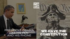 Viral Meme: Obama Has His Pen and His Phone - http://isbigbrotherwatchingyou.com/2014/01/16/nsa/viral-meme-obama-has-his-pen-and-his-phone/