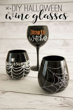 DIY Halloween Wine Glasses Ideas – The Perfect Girl's Craft Night!