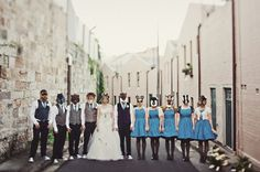 Enchanted Forest Bridal Party Photo by Jonas Peterson Photography via Rock n Roll Bride