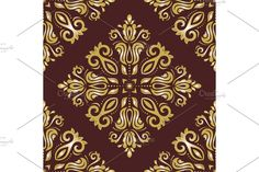 Damask Patterns, Arabesque, Vector Pattern, Abstract Backgrounds, Oriental, Floral, Flowers, Flower