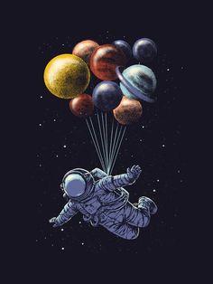 #astronout #galaxi #planet #balloon #wallpaper