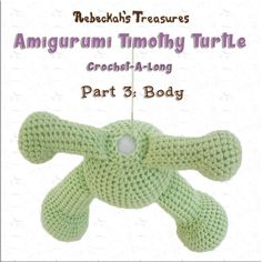 Timothy Turtle #CAL Part 3: Body with @beckastreasures / Join the fun as we crochet this cute amigurumi turtle! Free pattern!