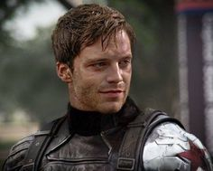 This shorter hair in the Winter Soldier suit is hot!