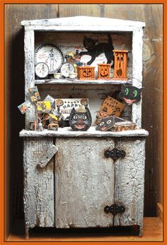 """1"""" Scale KIT - Halloween Altered Cabinet. Does not include Accessory kits. 4 1/2"""" w x 8 5/8"""" h x 2"""" d"""