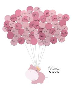 Having a hippo themed shower? A unique zoo animal themed guest book that becomes cute artwork! Your guests sign the balloons at the baby shower, then attach them to complete it. Make your baby shower interesting and fun! Baby Shower Games, Baby Shower Parties, Diy Shoe Rack, Sweet Sixteen Parties, Guest Book Alternatives, Baby Party, Nursery Room, Baby Love, Note Cards