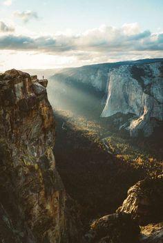 Yosemite, luces al atardecer.