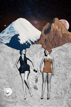 "surrealism: ""Summer Dreams by Eugenia Loli, Collage. Surreal Collage, Surreal Art, Collage Artists, Collages, Photomontage, Eugenia Loli, Summer Dream, Mixed Media Collage, Collage Collage"