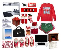 """""""Christmas sleepover at my friends"""" by tovofamily ❤ liked on Polyvore featuring ASOS, New Directions, NIKE, Sixtrees, Alphason, DutchCrafters, H&M and Woven Workz"""