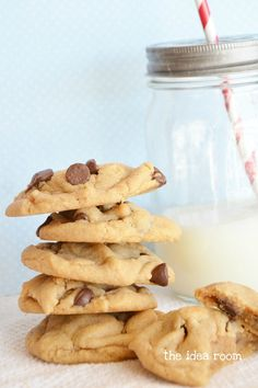 World's Best Peanut Butter- Chocolate Chip Cookies- Yes, Please!