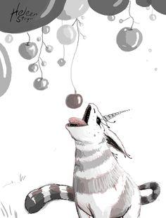#14 The unicorn  #inktober #digitalink