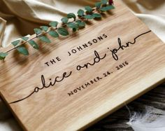 Wedding Gift Personalized Cutting Board Gift for couple Unique Wedding gift Custom Wedding Gift Bridal Shower Gift Anniversary Gift