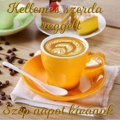 szerda reggel - Megaport Media Coffee Heart, Coffee Is Life, I Love Coffee, Good Morning Coffee, Coffee Break, Mini Desserts, Coffee Cafe, Coffee Drinks, Café Chocolate