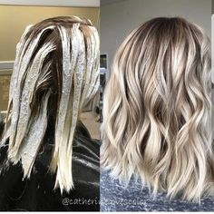 """1,599 Likes, 6 Comments - Dope Hair Beehash Boston (@imallaboutdahair) on Instagram: """"A little Balayage application with the after shot by @catherinelovescolor Let's vote do you love…"""""""