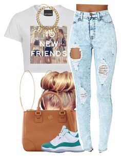 July 27, 2k15 by xo-beauty on Polyvore featuring polyvore, fashion, style, Tory Burch, H&M, Lana and NIKE