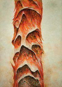 Guillermo Meza (Mexican, 1917-1997) Arbol del bien y dol mal, 1974 Oil on canvas…