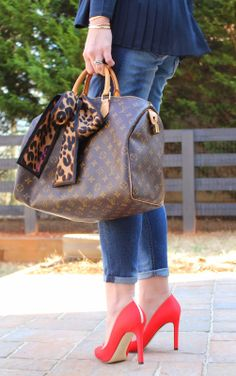 TiffanyD: Classic and Fun OOTD... New SJP shoes (speedy 35, sjp lady red shoes)
