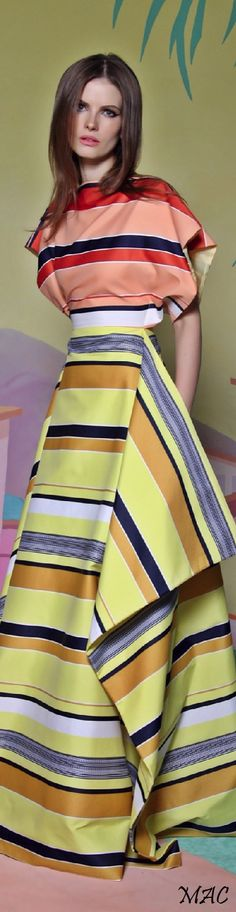 Resort 2016 Christian Siriano women fashion outfit clothing style apparel @roressclothes closet ideas