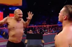 LaVar Ball took off his shirt and challenged The Miz in one portion of Monday Night Raw at the Staple's Center.