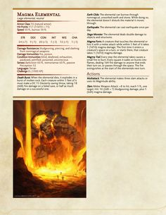 Dungeons & Dragons — Some more elementals. Dungeons And Dragons Classes, Dungeons And Dragons Homebrew, Magical Creatures, Fantasy Creatures, Dnd Stats, Dnd Dragons, Dnd 5e Homebrew, Dragon Rpg, Dnd Monsters