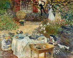 senza dedica: Pomeriggio d'estate nel giardino di Claude Monet