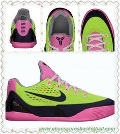 68cf5a9291c6 Femmes Volt Marine minuit-Rose Glow-Gris loup 653593-701 Nike Kobe 9 EM GS