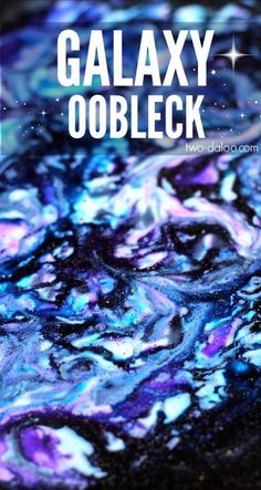 Make this gorgeous galaxy oobleck with just a few ingredients and keep your kiddos mesmerized through simple sensory play!