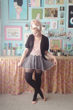 @Kate Gabrielle wears the she and reverie Ballet Miniskirt on Scathingly Brilliant ♥