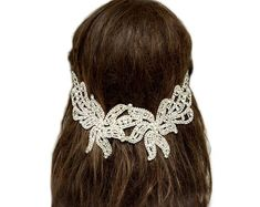 Browse unique items from curtainroad on Etsy, a gl. Browse unique items from curtainroad on Etsy, a global marketplace of handmade, vintage and creative goods. Bridal Headpieces, Headpiece Wedding, Wedding Hair Accessories, Fashion Accessories, Bridal Hair Chain, Vintage Headpiece, Hair Chains, Vintage Wedding Hair, Hair Jewelry