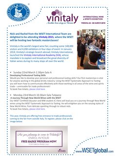 Corsi Wset GRATUITI in programma a Vinitaly 2015, è possibile registrarsi su Eventbrite
