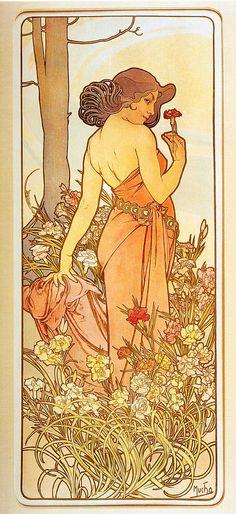 Carnation - Alphonse Mucha