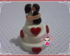 Mini bolo em biscuit