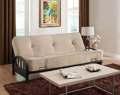 We have a fairly nice wooden futon that we will use as a couch and guest bed combo in the new den.