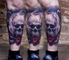 Skulls tattoo by Bacanu Bogdan