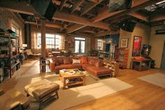 Recognize this TV-show living room? It's from FOX's New Girl! Click through to This Old APT. by This Old House take a tour of the apartment ;)