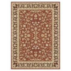"Loloi Rugs Welbourne Paprika & Coffee Area Rug Rug Size: 7'7"" x 10'6"""