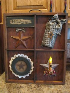 primitive country decorating ideas for kitchen' Arte Country, Country Crafts, Country Decor, Prim Decor, Rustic Decor, Farmhouse Decor, Primitive Decorations, Western Decor, Farmhouse Ideas