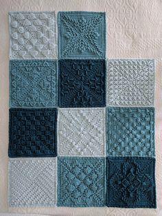 ccdoug's Shades of Teal Blanket Ravelry: ccdoug's Shades of Teal Blanket Crochet Square Blanket, Crochet Quilt, Crochet Blocks, Granny Square Crochet Pattern, Afghan Crochet Patterns, Baby Blanket Crochet, Crochet Motif, Baby Knitting Patterns, Afghan Blanket