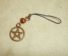 Pentagram Wiccan Cell Phone Charm