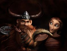 Love couple from How to train your dragon 2 >>> Stoick the Vast and Valka. Stoick the Vast and Valka Dragon Rider, Dragon 2, Dragon Book, Dreamworks Dragons, Disney And Dreamworks, Dragon Defender, Pencil Test, Childhood Movies, Fairytale Art