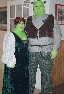 Picture: Homemade Fiona and Shrek Costumes were prize-winning costumes in the Halloween contest!