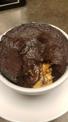 PMS busting, crave controlling, all out happiness enducing, mother of desserts that will satisfy your dessert desires (AKA Chocolate Peanut Butter Lava Cake) : ketorecipes