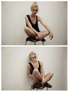 On a stool